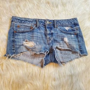 🔥 American Eagle Cutoff Jean Shorts Distressed
